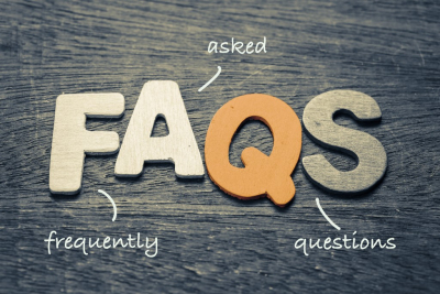 faqs ( frequently asked questions ) wood letters on wood background